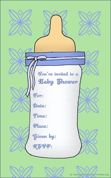 printable baby shower invitations templates  boys
