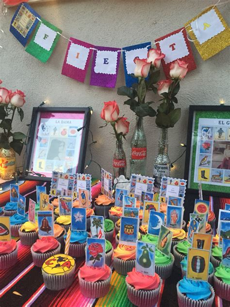 loteria cupcakes for mexican mexican theme mexicans fiestas and