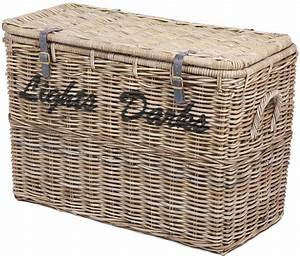 Buy The Wicker Merchant Light And Dark Laundry Basket