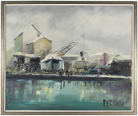 ferrari industrial oil painting painting  stdibs