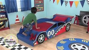 Lit Voiture Garcon : lit voiture de course gar on youtube ~ Melissatoandfro.com Idées de Décoration