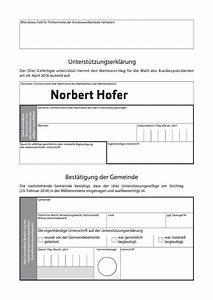 Mietvertrag Unterschreiben Was Beachten : unterst tzungserkl rung jetzt f r norbert hofer ~ Lizthompson.info Haus und Dekorationen