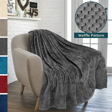 premium flannel fleece throw blanket  sofa couch