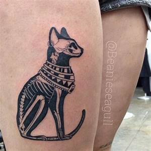 Egyptian Cat x-ray by Sean Arnold of Alchemy Tattoo ...