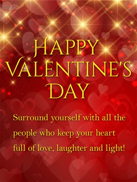 laughter  light shining happy valentines day card