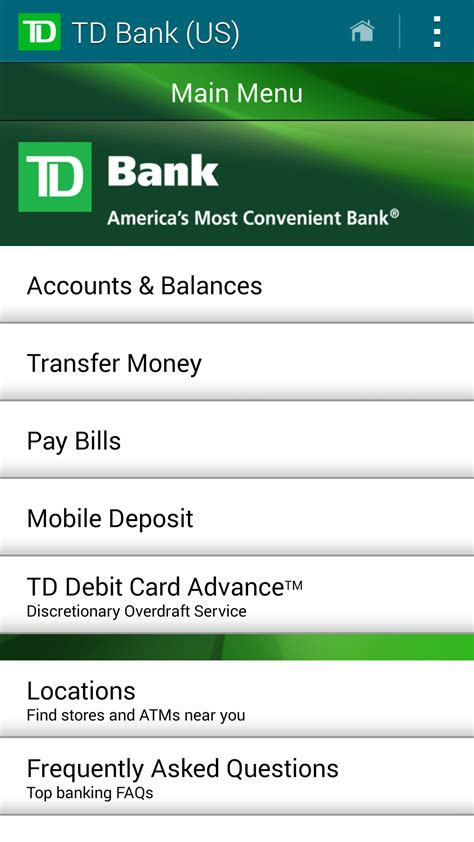 amazoncom td bank  appstore  android