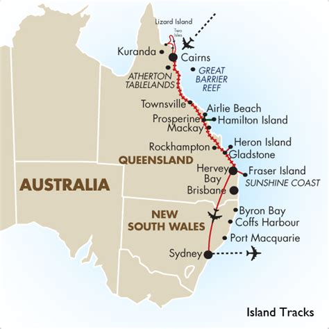island tracks australia vacations  packages