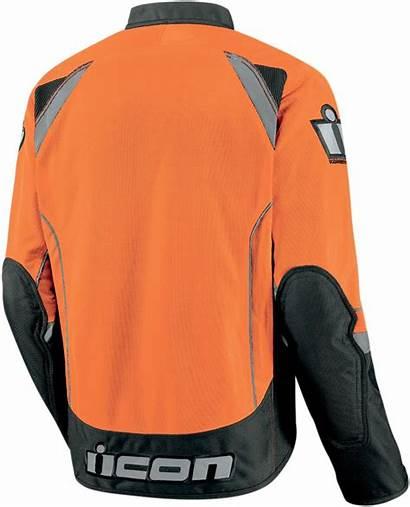 Textile Orange Jacket Icon Motorcycle Jackets Hooligan