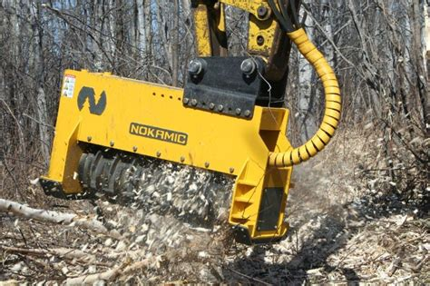 excavator mulching head foremost
