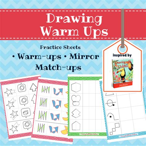 drawing with children warm ups practice sheets 434 | drawing warm ups 800x800