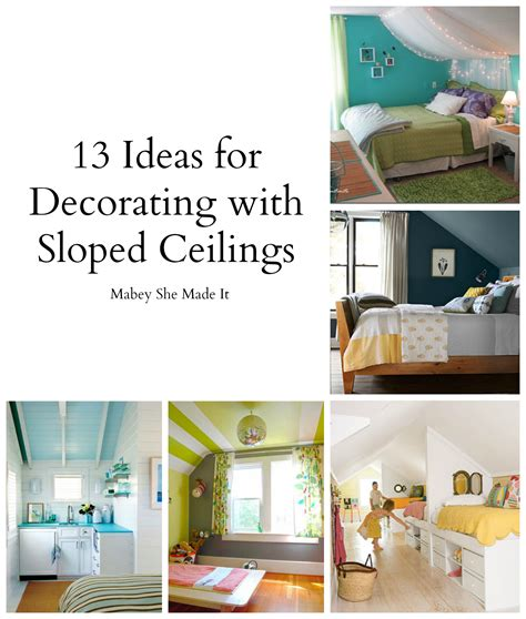 Decorating Ideas For Bedroom With Slanted Ceiling by 17 Sloped Ceiling Bedroom Design Ideas Mabey She Made It