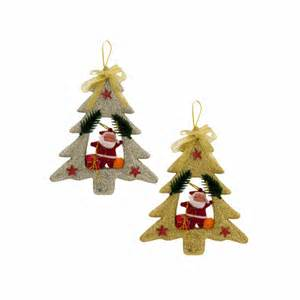 christmas tree with santa claus ornament