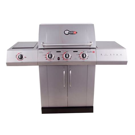 char broil tru infrared char broil gourmet 3 burner tru infrared propane gas grill with side burner 463251714 the home
