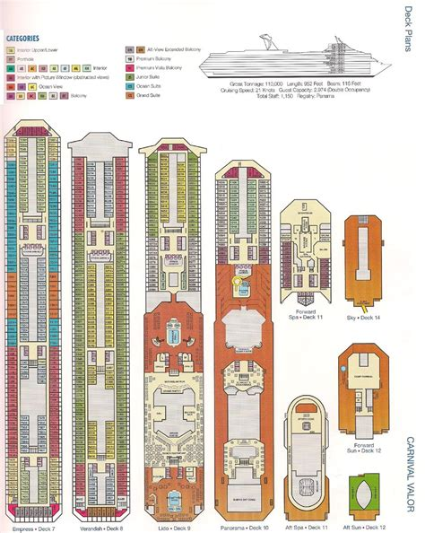 carnival valor deck plan printable deck plans carniv al glor y deck plans carnival bed