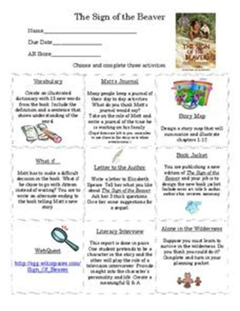 Book report on the sign of the beaver jpg 228x295