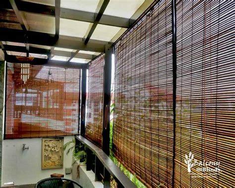 bamboo porch shades outdoor bamboo blinds singapore balconyblinds