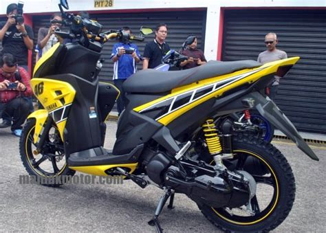 Modif Aerox 115 Lc by Yamaha Aerox 125 Lc Versi Modifikasi Bakal Jadi Trend