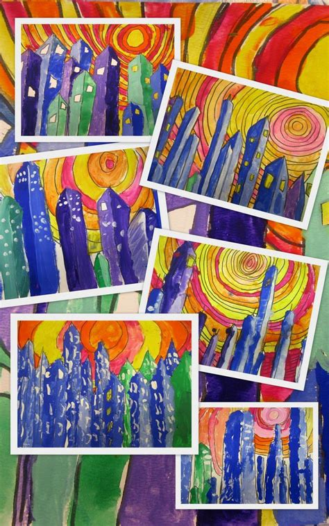 grade   cities classroom art projects art lessons