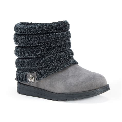 ankle sweater boots muk luks ankle boots with sweater knit cuff
