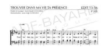 Paroles Trouver Dans Ma Vie Ta Présence by C 233 L 232 Bres Chants D 201 Glise Pour Les Fun 233 Railles Vol 2