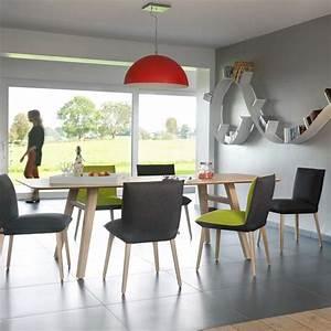 Salle A Manger Bois Moderne : table de salle manger moderne en bois lancaster mobitec 4 pieds tables chaises et ~ Teatrodelosmanantiales.com Idées de Décoration