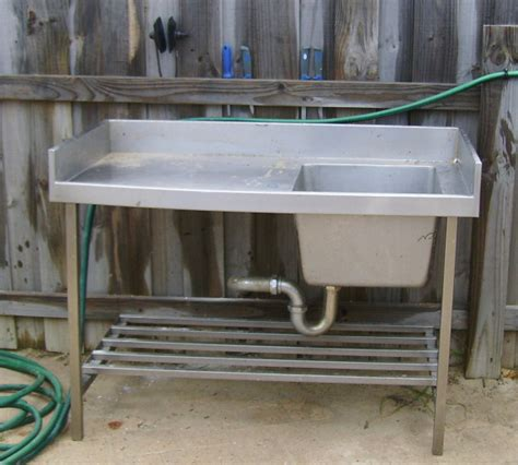 stainless fish cleaning table with sink fillet table fishing fishwrecked fishing wa