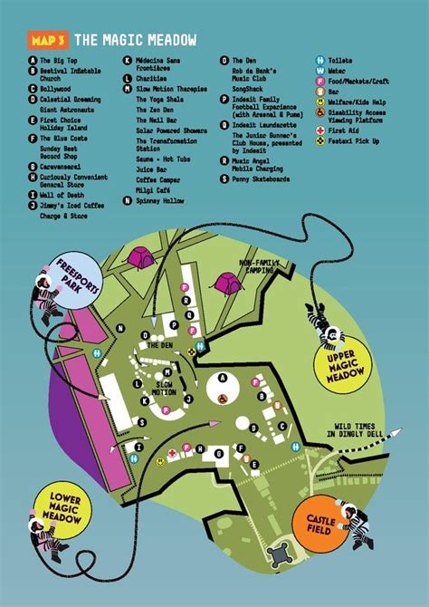 Maps For Camp Bestival  How To Find Your Way Around The