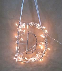 fairy light monogram letter tutorial polka dot bride With lighted monogram letters