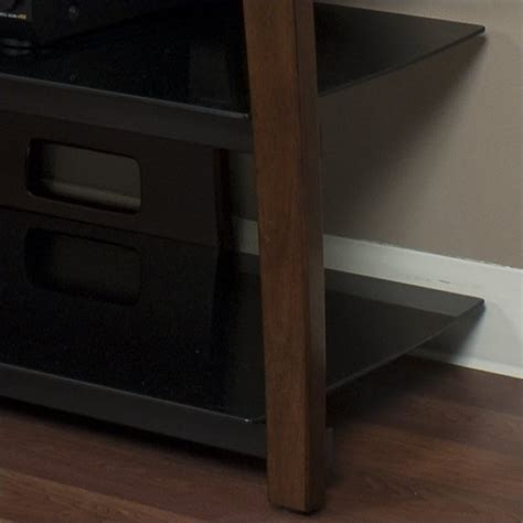 wide plasmalcd tv stand  walnut finish xiiw