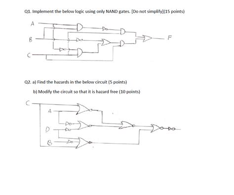 Solved Implement The Below Logic Using Only Nand Gate