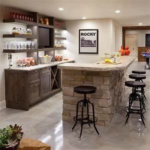 Transitional Bar With Stacked Stone Island and Open