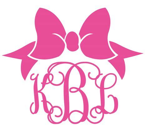 custom monogrammed preppy bow decal