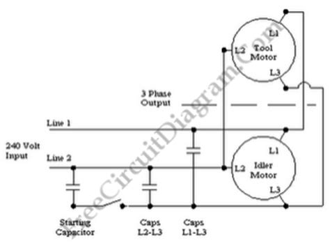 Phase Single Rotary Converter Circuit
