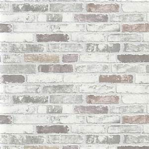 Erismann Brix Brick Effect Wallpaper 6703-10 - Grey I