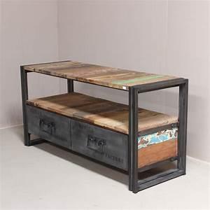 meuble bois fer myqtocom With meuble bois fer forge