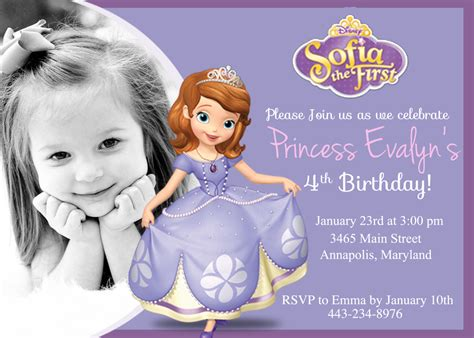 princess sofia birthday invitation template gamingtopp