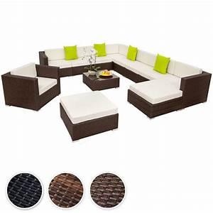 Gartenmöbel Sitzgruppe Rattan Lounge : details zu xxl poly rattan alu sitzgruppe lounge rattanm bel gartenm bel sofa set sofa set and ~ Sanjose-hotels-ca.com Haus und Dekorationen