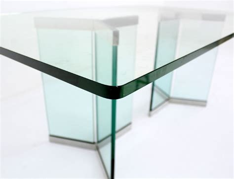 mid century glass dining table pace collection mid century modern glass dining table at
