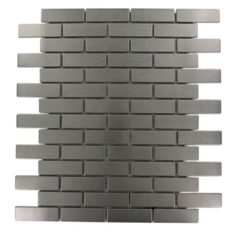 stainless steel tile splashback tile stainless steel brick pattern 12 in x 12