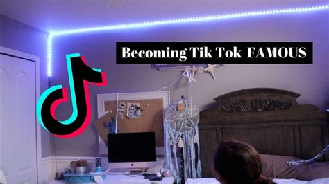 hanging led lights all my room to be tik tok