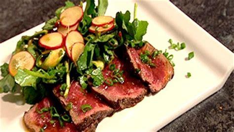 cuisiner le cresson salade de cresson boeuf radis et asperges crues