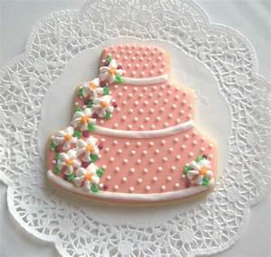wedding cake cookies coral wedding cookie favors With wedding cake cookie favors