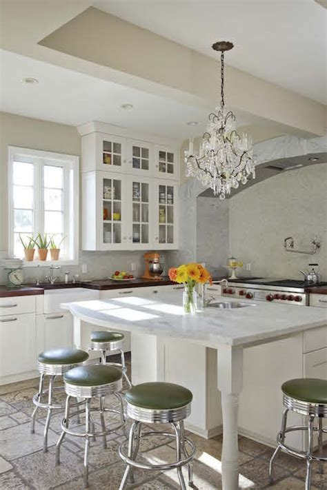 Kitchen Island with Curved Countertop   Transitional   Kitchen