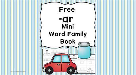 cvc ar family worksheets build  minibook
