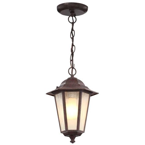 glomar 1 light outdoor bronze incandescent pendant