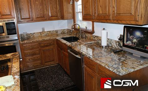 golden classic granite kitchen countertops