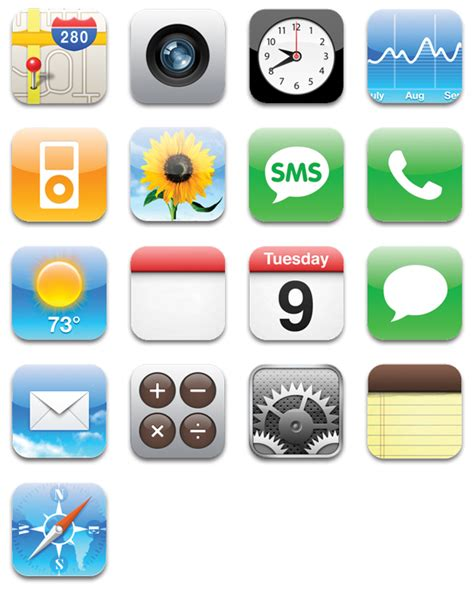 symbols on iphone image gallery iphone icons