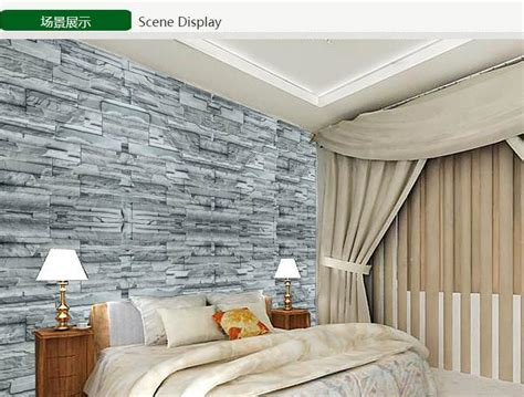 modern vinyl  adhesive wallpaper pvc waterproof