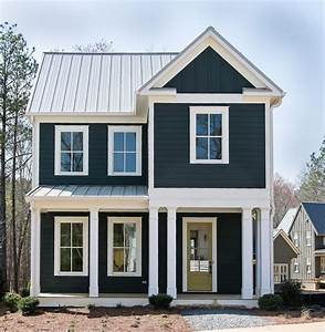 Dark siding with white trim. Don't like the white on the ...