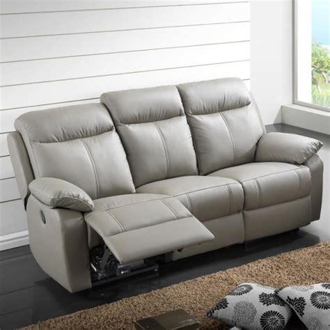 canap de relaxation canapé relax électrique 3 places cuir vyctoire achat